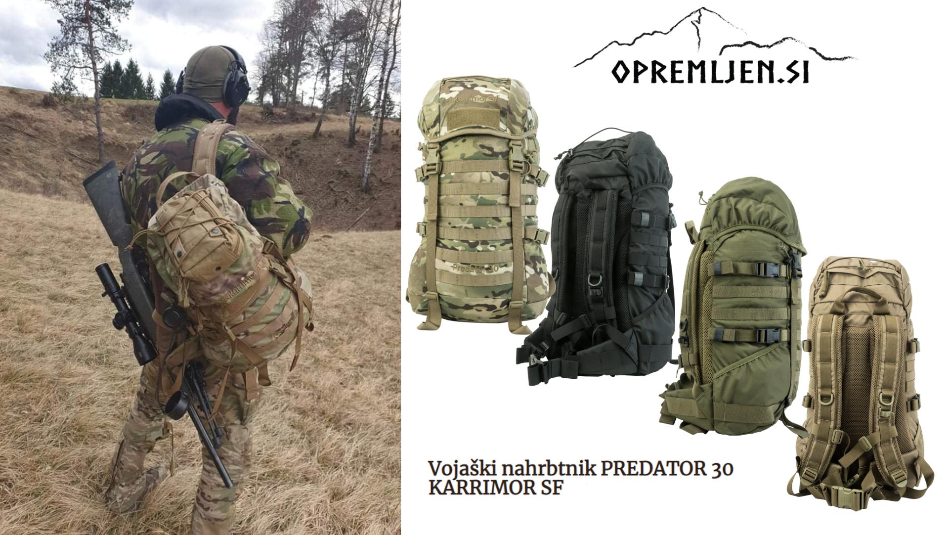 Vojaški nahrbtniki, Karrimor SF, B33 army shop, Trgovina z vojaško opremo, Vojaška trgovina