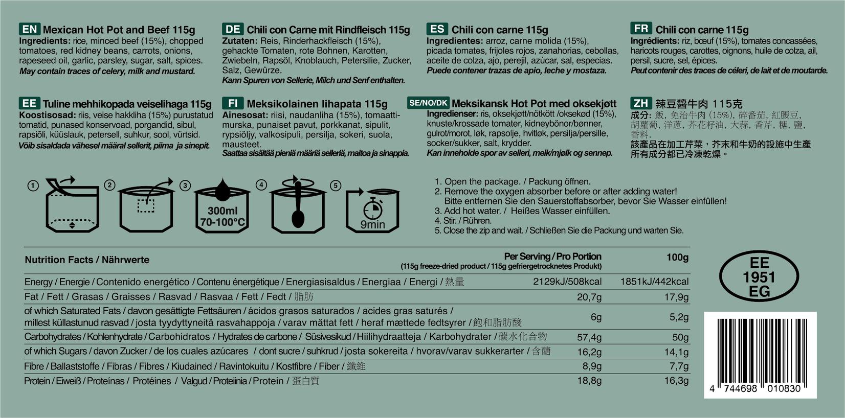 TACTICAL FOODPACK, MRE, prehrana, suhi obroki, SDO, B33 army shop, army shop, trgovina z vojaško opremo, vojaška trgovina