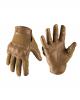 Vojaške taktične usnjene aramid rokavice odporne na reze DARK COYOTE barve