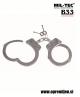 Kovinske lisice NYPD z gibljivo povezavo med kraki lisic s ključem ter z dvojno ključavnico / zadrževalnikom, ki ob vklopu ustavi zapestje, da bi se preprečilo, da bi se uporabnik zategnil. Dobavljivo z dvema ključema. B33 army shop, trgovina z vojaško op