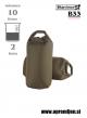 DRY BAG 10 Karrimor SF - vojaška nepremočljiva vreča (10 litrov) par (2 kosa) za stranski torbi nahrbtnikov coyote barva