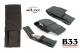 Etui za zložljiv nož velikosti 16 cm črne barve