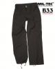 Vojaške ženske bojne hlače ripstop prewash US BDU (Battle Dress Uniform) črna barva