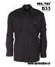 Vojaška srajca iz ripstop tkanine črna barva MILTEC by B33 army shop www.opremljen.si, trgovina z vojaško opremo, vojaška trgovina