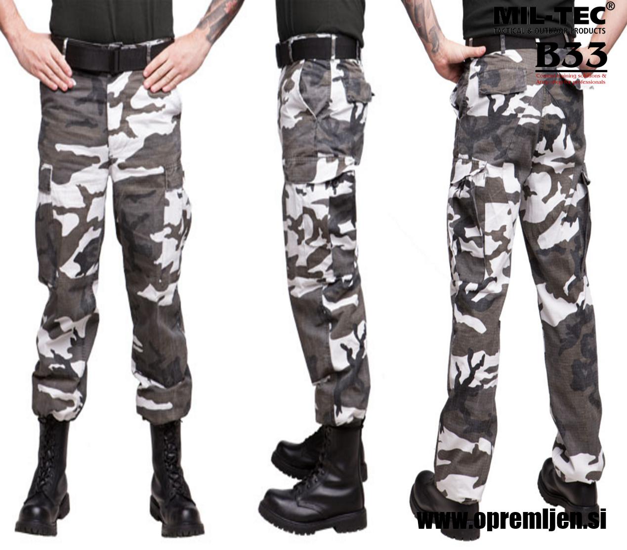 Vojaške bojne hlače US BDU urban MILTEC by B33 army shop at www.opremljen.si