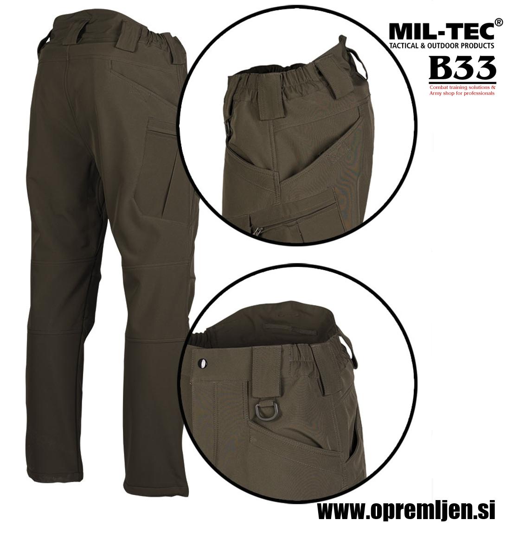 B33 army shop - tople flis nepremočljive vojaške hlače model Ranger 'Assault' olivna barva by MILTEC, B33 army shop at www.opremljen.si, trgovina z vojaško opremo, vojaška trgovina