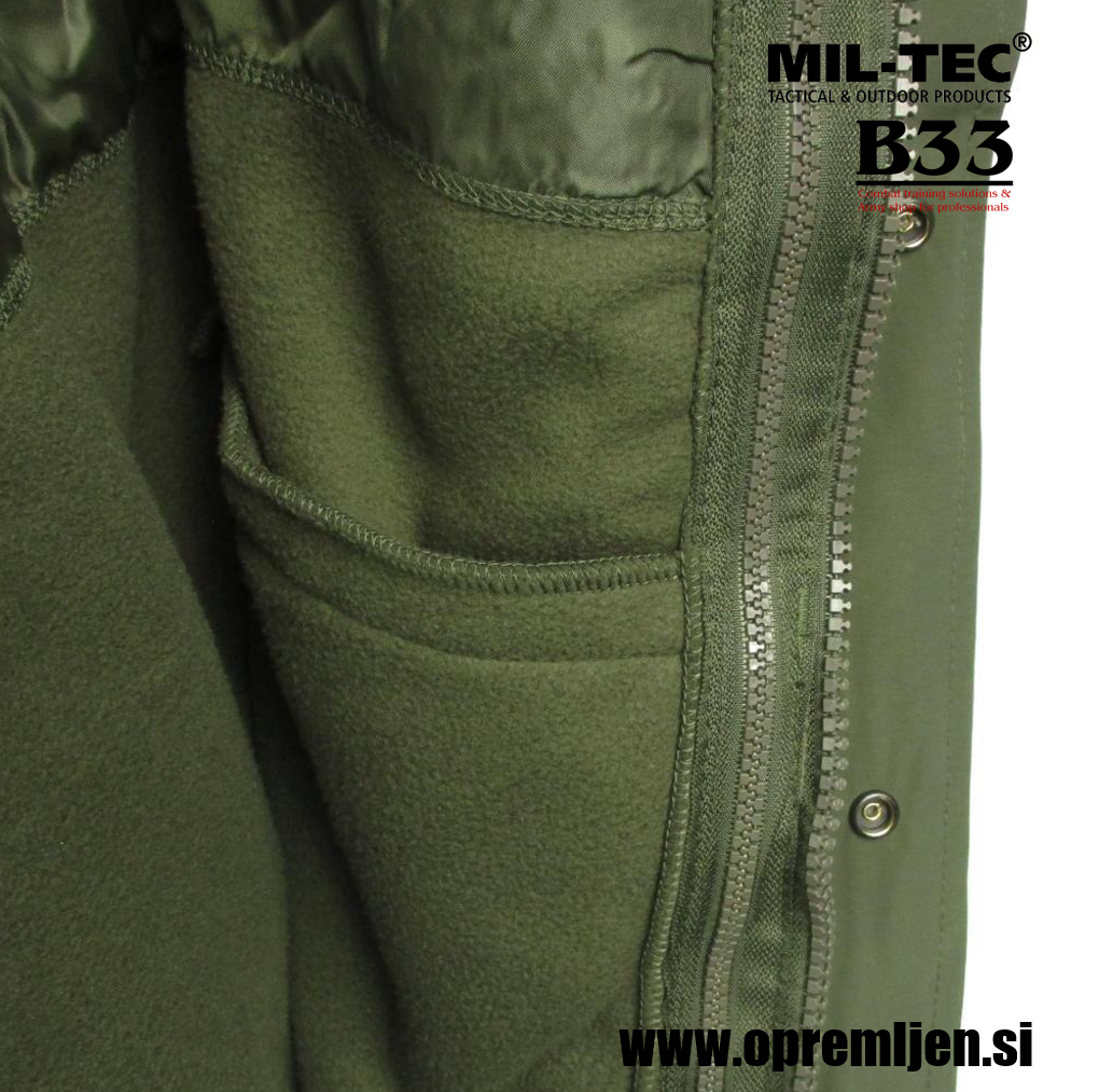 B33 army shop - Vojaška tri plastna nepremočljiva jakna podložena s flisom za v dež in sneg barva German Flecktarn MILTEC by B33 army shop at www.opremljen.si, trgovina z vojaško opremo, vojaška trgovina