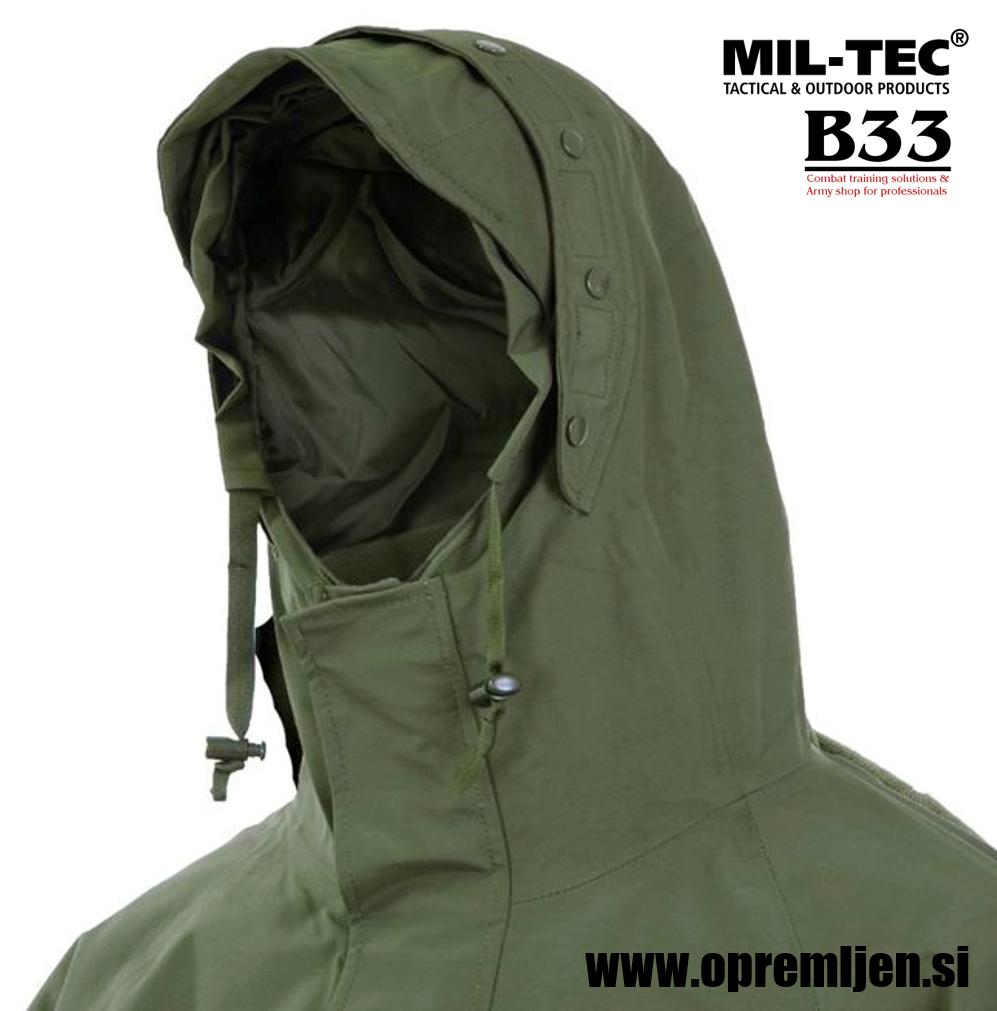 B33 army shop - Vojaška 3slojna nepremočljiva jakna olivne barve, Lovska jakna, jakna za dež, nepremočljiva jakna, MILTEC, MIL-TEC, B33 army shop at www.opremljen.si, trgovina z vojaško opremo, vojaška trgovina