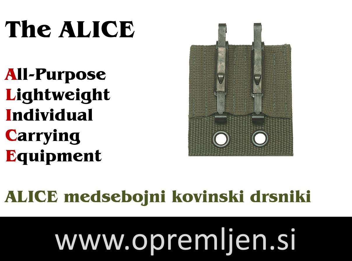 B33 army shop - ALICE medsebojni kovinski drsniki za namestitev opreme na ALICE opasač MILTEC by B33 army shop at www.opremljen.si, trgovina z vojaško opremo, vojaška trgovina