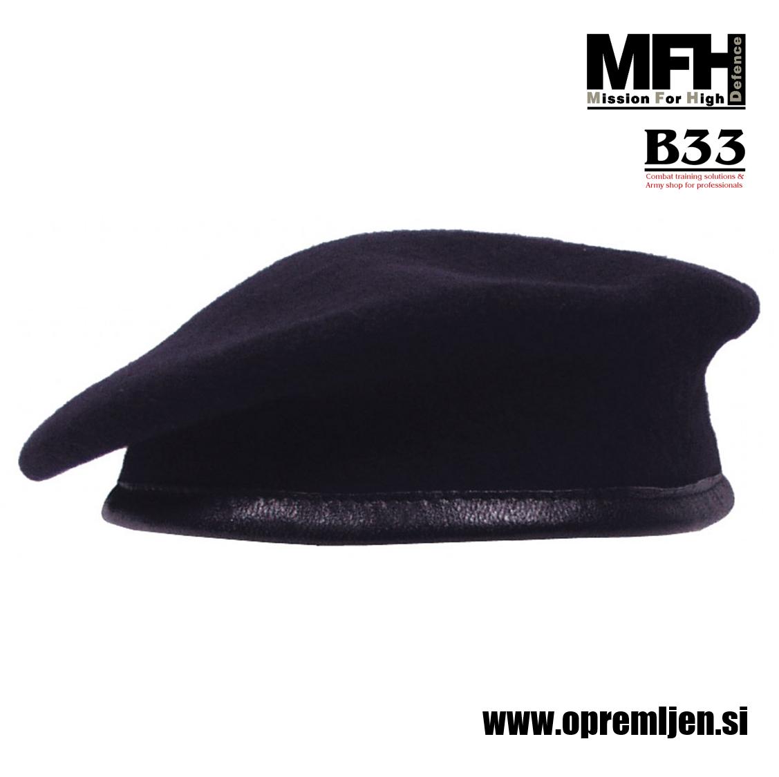 Vojaška baretka modre barve MFH (model francoska komando baretka) by B33 army shop at www.opremljen.si
