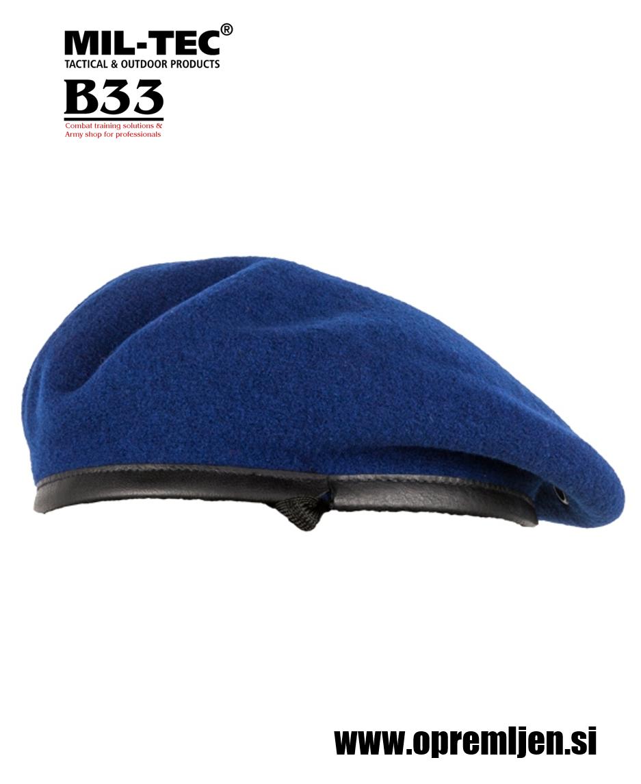 Vojaška beretka BW commando PLEIN CIEL modre barve MILTEC by B33 army shop at www.opremljen.si, vojaška trgovina, trgovina z vojaško opremo