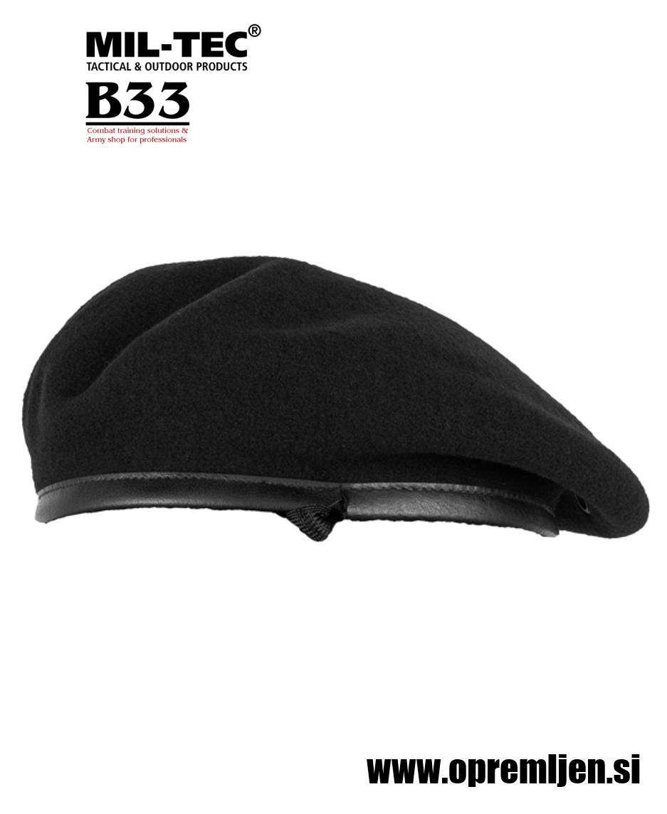 Vojaška beretka BW commando PLEIN CIEL črne barve MILTEC by B33 army shop at www.opremljen.si, vojaška trgovina, trgovina z vojaško opremo