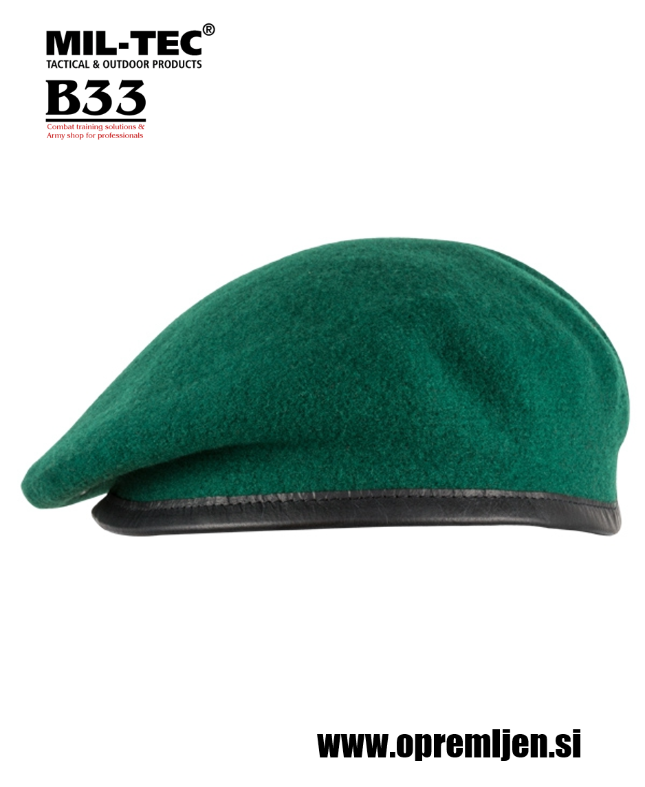 Vojaška beretka BW commando PLEIN CIEL zelene barve MILTEC by B33 army shop , vojaška trgovina, trgovina z vojaško opremo