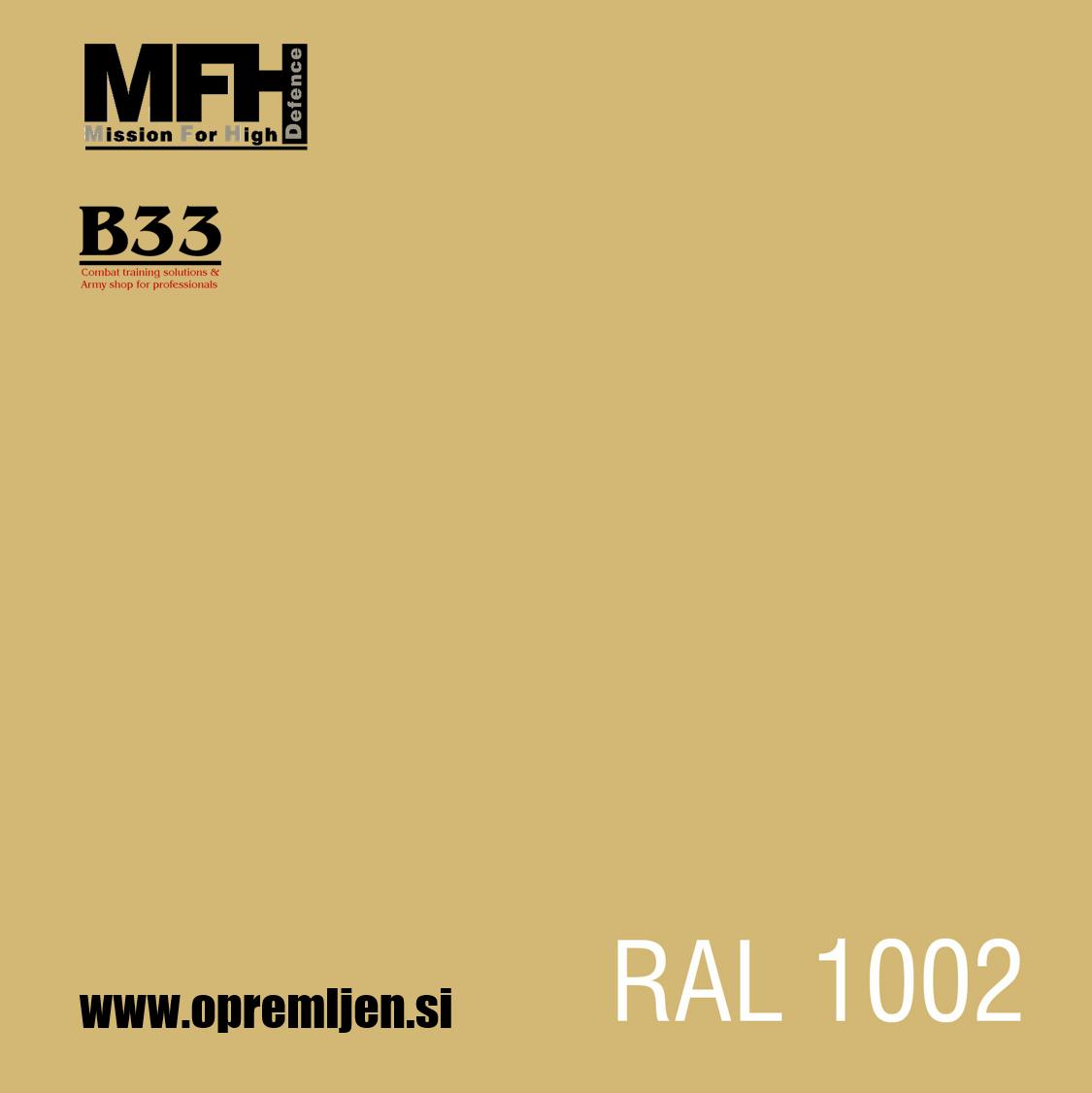 Vojaška barva sprej svetlo peščena KHAKI mat RAL1002 400ml MFH - Max Fuchs by B33 army shop at www.opremljen.si