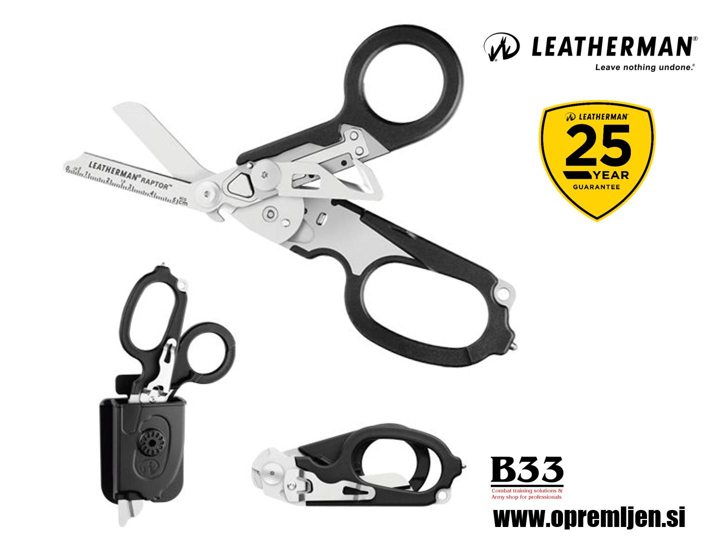 B33 army shop - Leatherman - Raptor Medicinske škarje iz nerjavečega jekla 420HC by B33 army shop at www.opremljen.si, trgovina z vojaško opremo, vojaška oprema