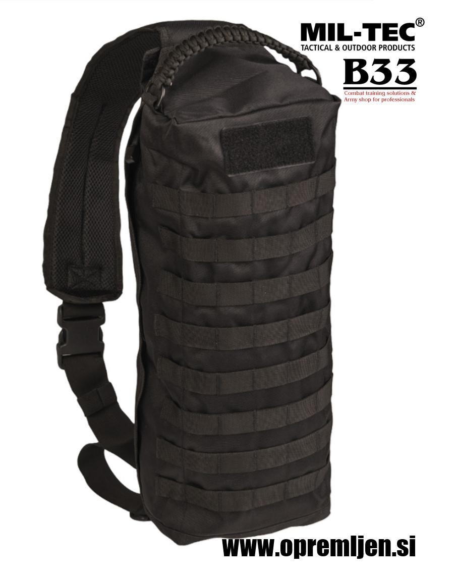 Vojaška ramenska MOLLE torba črna barva MILTEC, MIL-TEC by B33 army shop at www.opremljen.si (trgovina z vojaško opremo, vojaška trgovina)