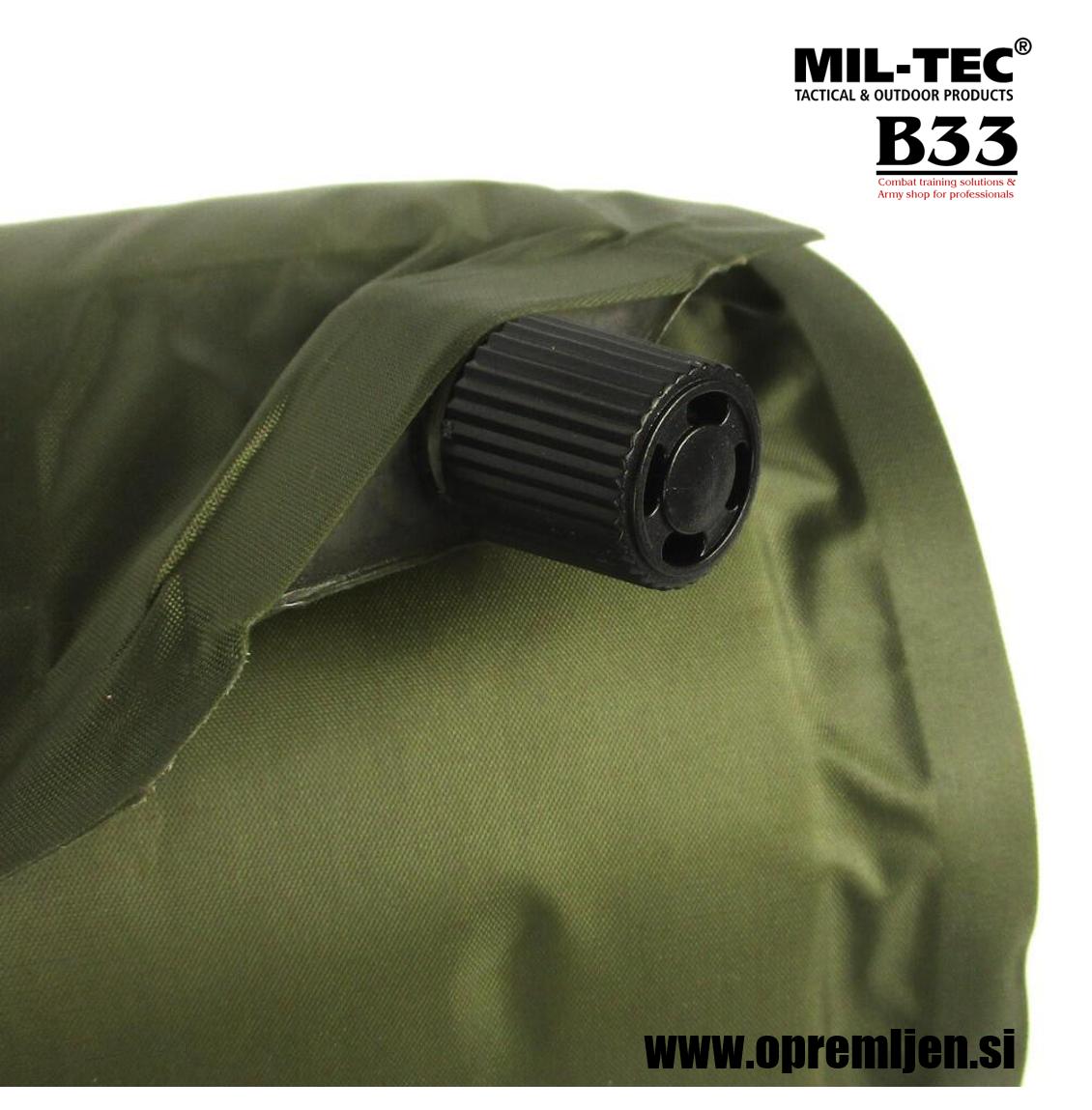 B33 army shop - Vojaška samonapihljiva podloga olivne barve MILTEC by B33 army shop at www.opremljen.si trgovina z vojaško opremo, vojaška trgovina