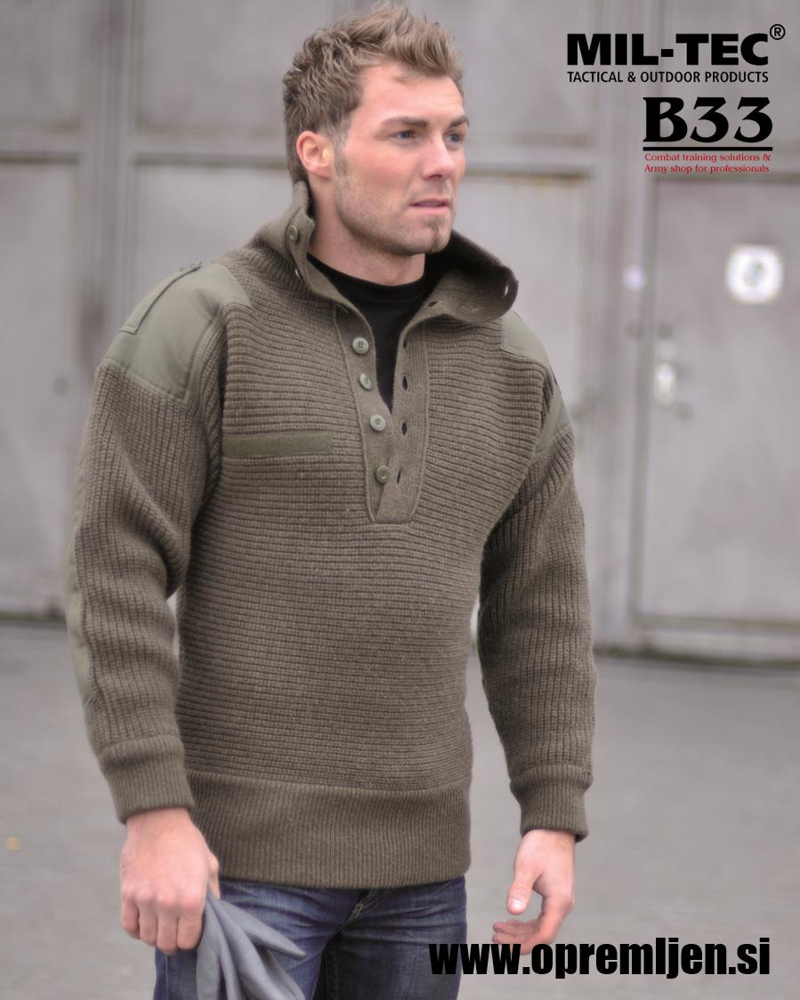 B33 army shop - Alpski vojaški pulover, Vojaški volneni pulover, Vojaški pulover iz volne, Vojaški pulover iz 100% volne, lovski pulover, lovski volneni pulover, MILTEC, MIL-TEC by B33 army shop at www.opremljen.si, trgovina z vojaško opremo, vojaška trgovina