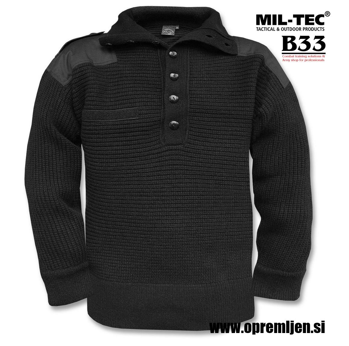 B33 army shop - Alpski vojaški pulover iz volne, volneni vojaški pulover, vojaški pulover 100% volna, lovski pulover