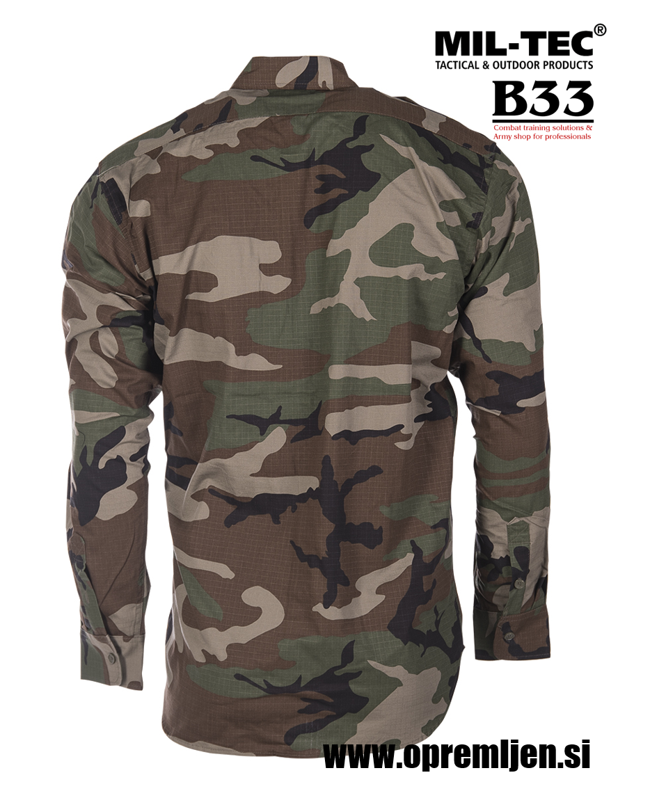 B33 army shop - vojaška srajca MILTEC, trgovina za vojaško opremo, vojaška trgovina