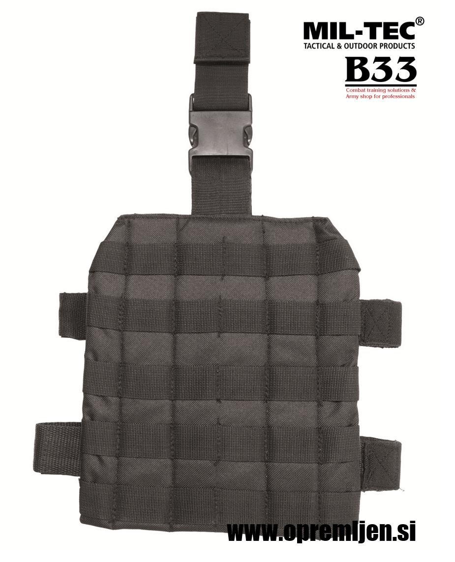 MOLLE nožna platforma za taktične torbice in drugo opremo črne barve MILTEC by B33 army shop at www.opremljen.si