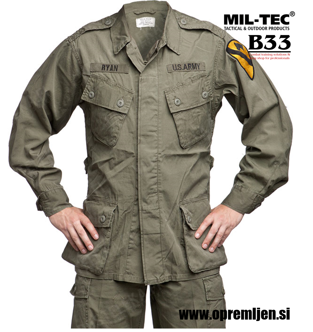 US M64 jakna US vietnam jungle jacket olivna