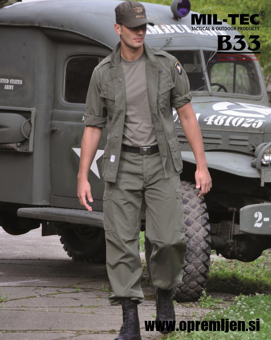 B33 army shop - US M64 Vietnam jungle jacket
