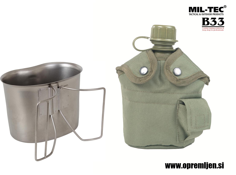 B33 army shop - vojaška čutara z aluminjastim lončkom za kuhanje MILTEC, MIL-TEC opremite se na www.opremljen.si (trgovina z vojaško opremo, vojaška trgovina)