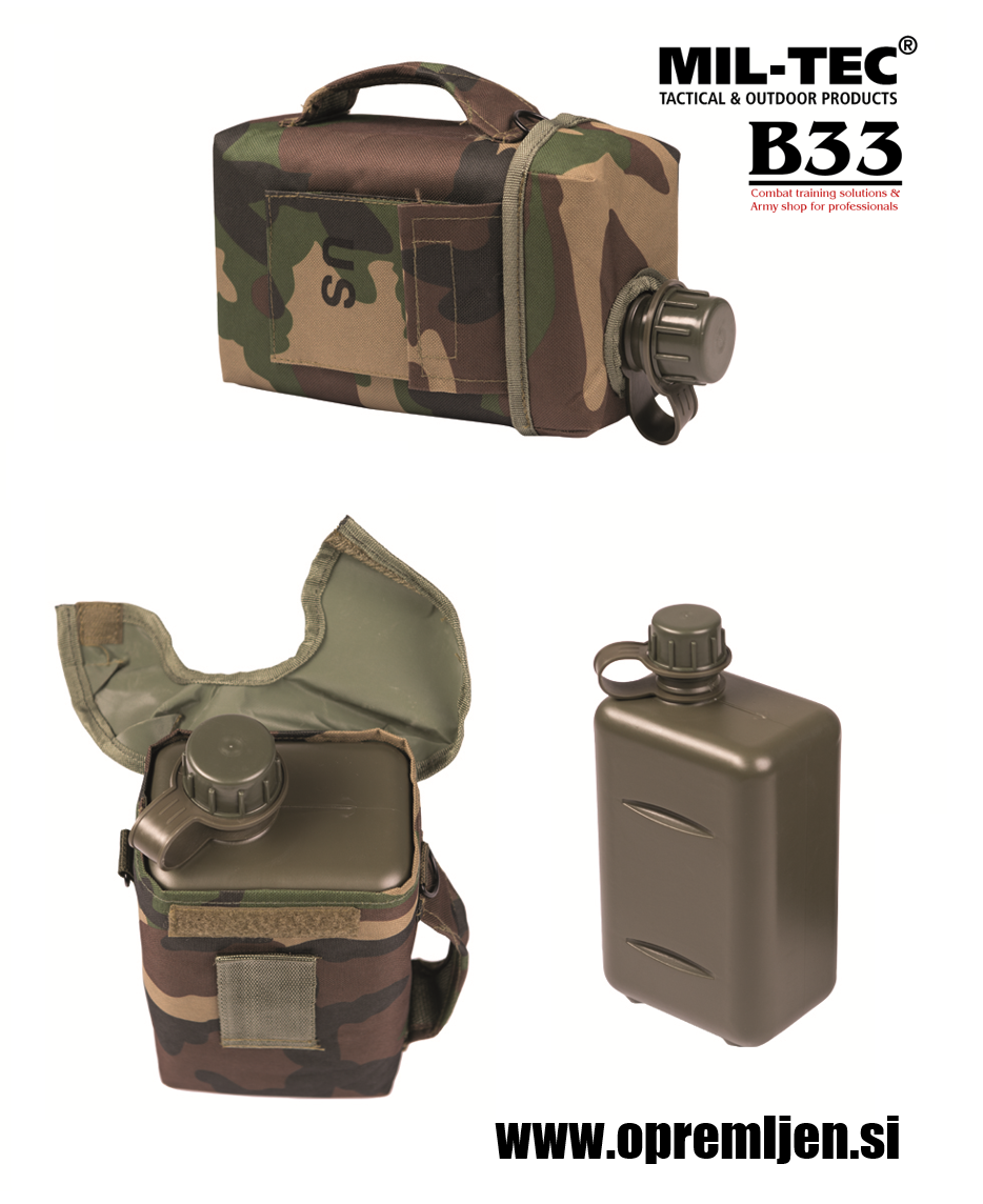 US vojaška čutara kapecitete 2 litra woodland by B33 army shop at www.opremljen.si