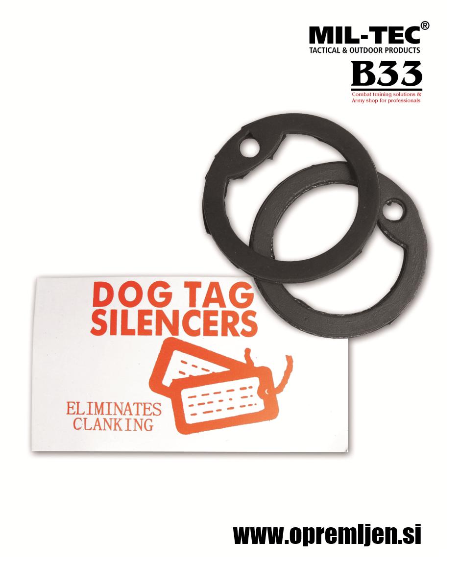 B33 army shop - glušilna gumica za US vojaško identifikacijsko ploščico (dog tag) MILTEC, MIL-TEC opremite se na www.opremljen.si (trgovina z vojaško opremo, vojaška trgovina)