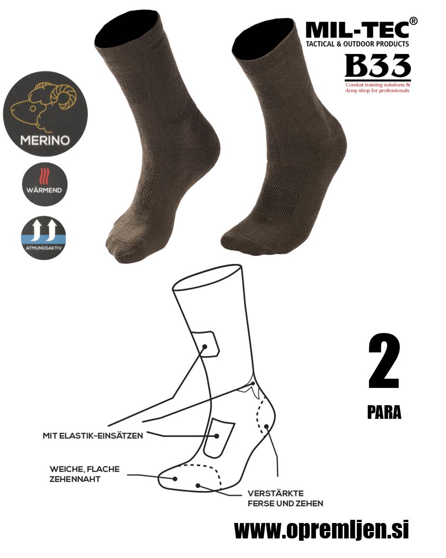 B33 army shop - volnene vojaške nogavice, volnene nogavice, pohodne nogavice, MILTEC opremi se na www.opremljen.si trgovina z vojaško opremo, vojaška trgovina