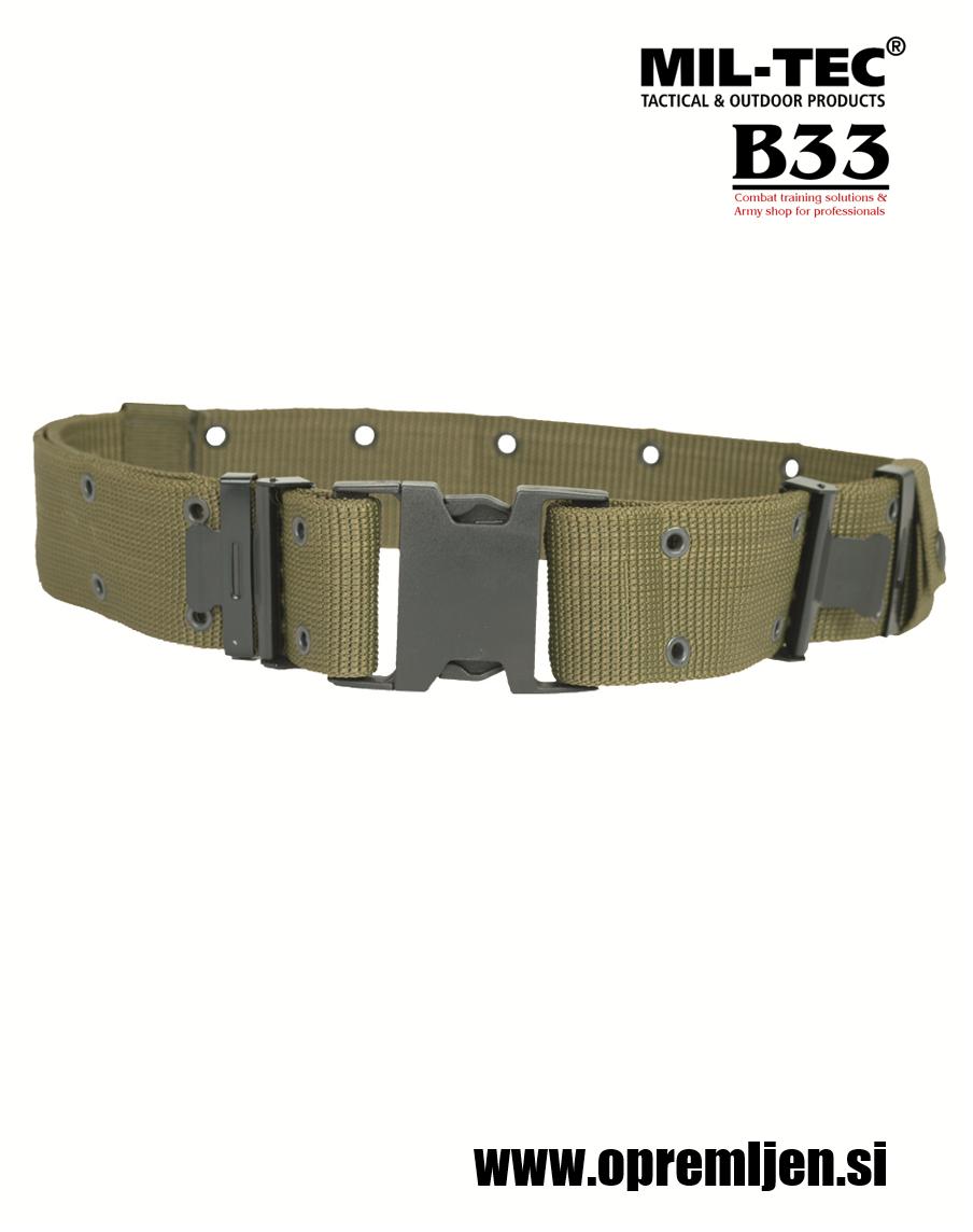 B33 army shop - vojaški pištolski opasač LC2 olivna barva MILTEC, MIL-TEC opremite se na www.opremljen.si (trgovina z vojaško opremo, vojaška trgovina)