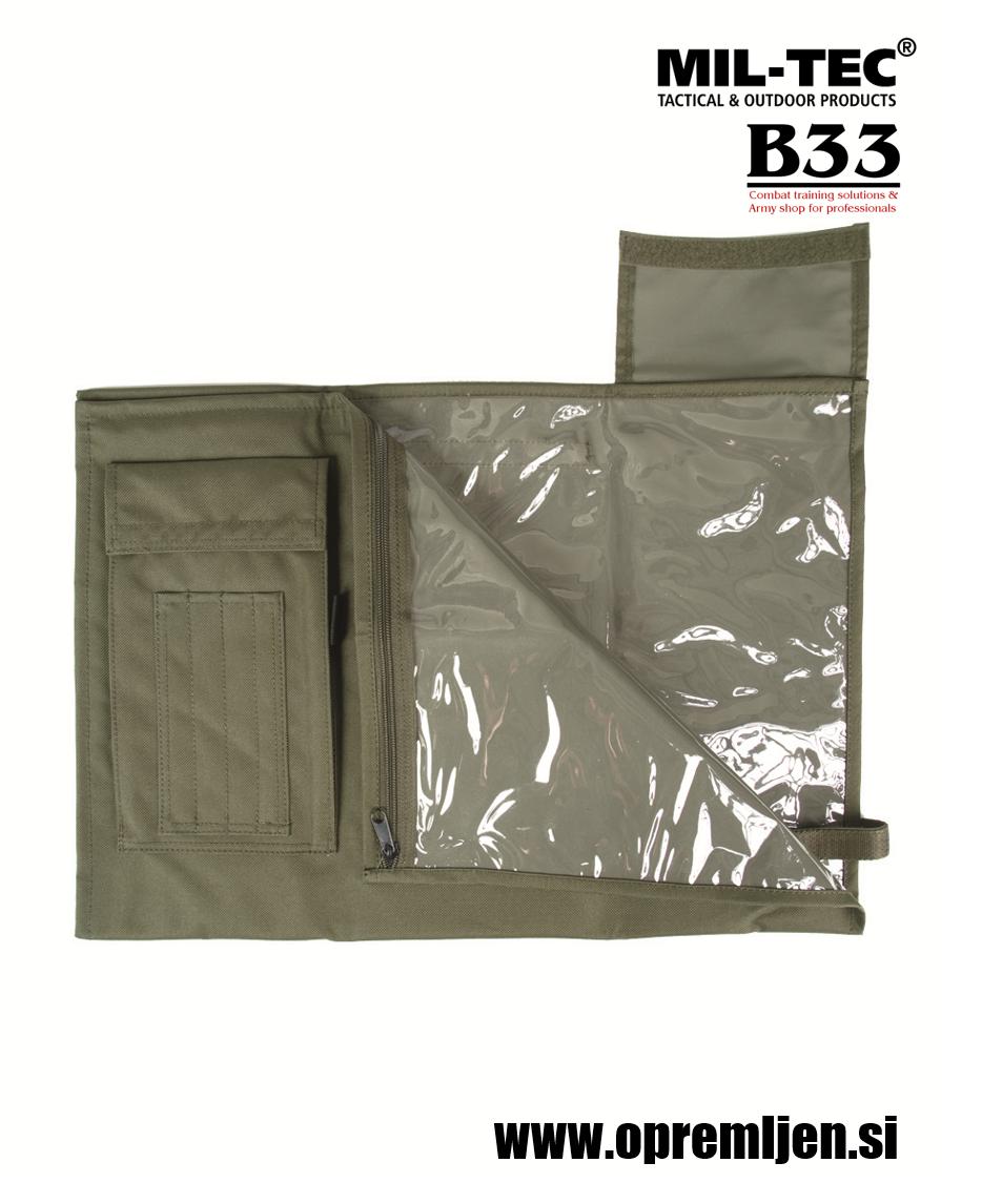 B33 army shop - vojaški nosilec za zemljevide MILTEC by B33 army shop at www.opremljen.si, trgovina z vojaško opremo, vojaška trgovina