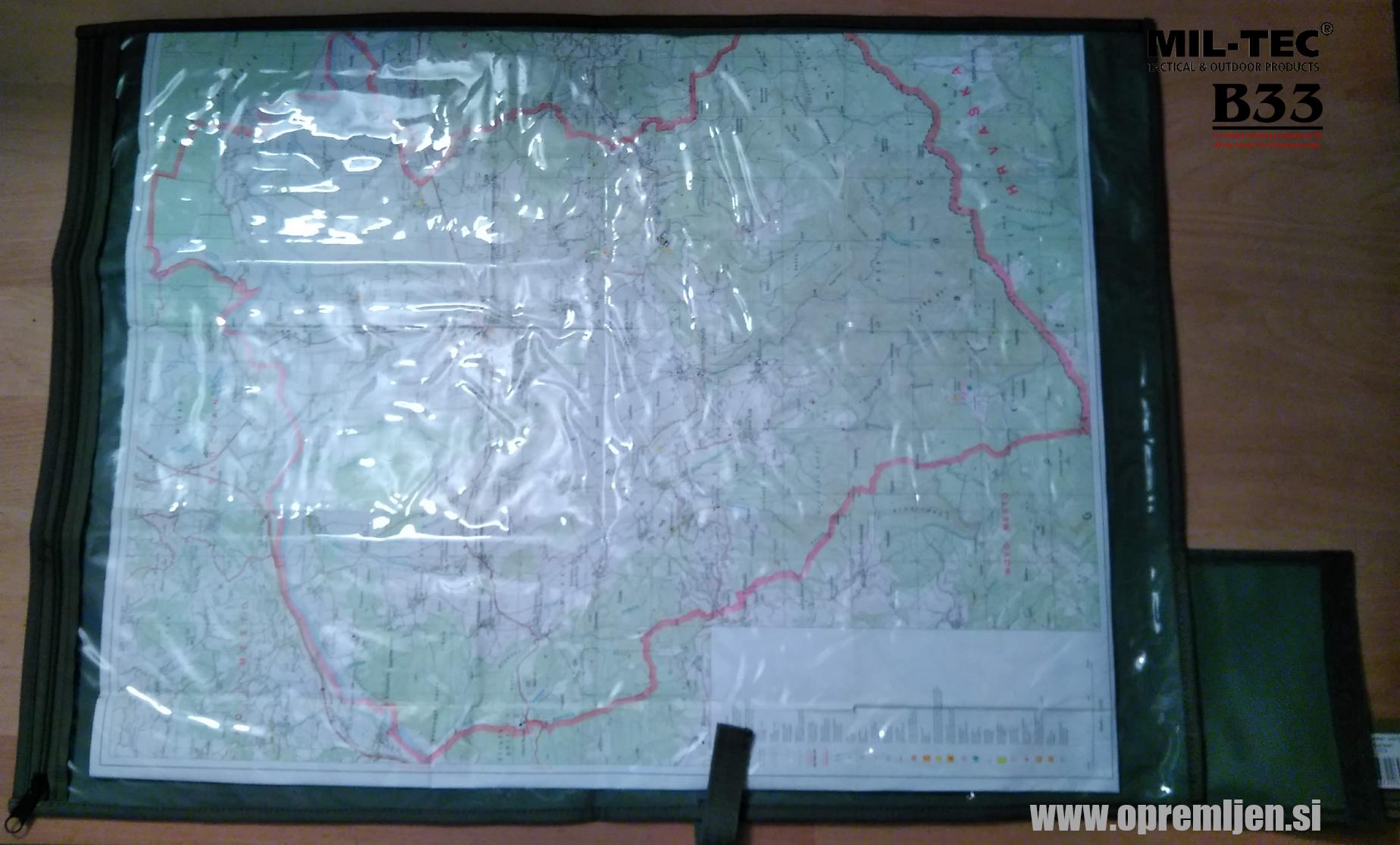 B33 army shop - Nemška vojaška Bundeswehr zložljiva mapa za zemljevide olivna barva MILTEC by B33 army shop at www.opremljen.si, trgovina z vojaško opremo, vojaška trgovina