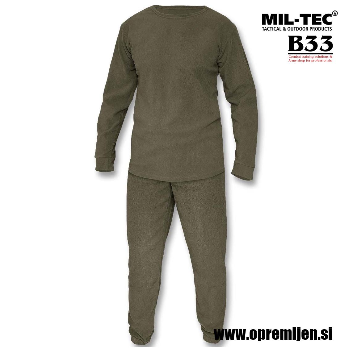 B33 army shop - Podobleka iz termoflisa zgornji in spodnji del, okrogli ovratnik, MILTEC, MIL-TEC by B33 army shop at www.opremljen.si, trgovina z vojaško opremo, vojaška trgovina