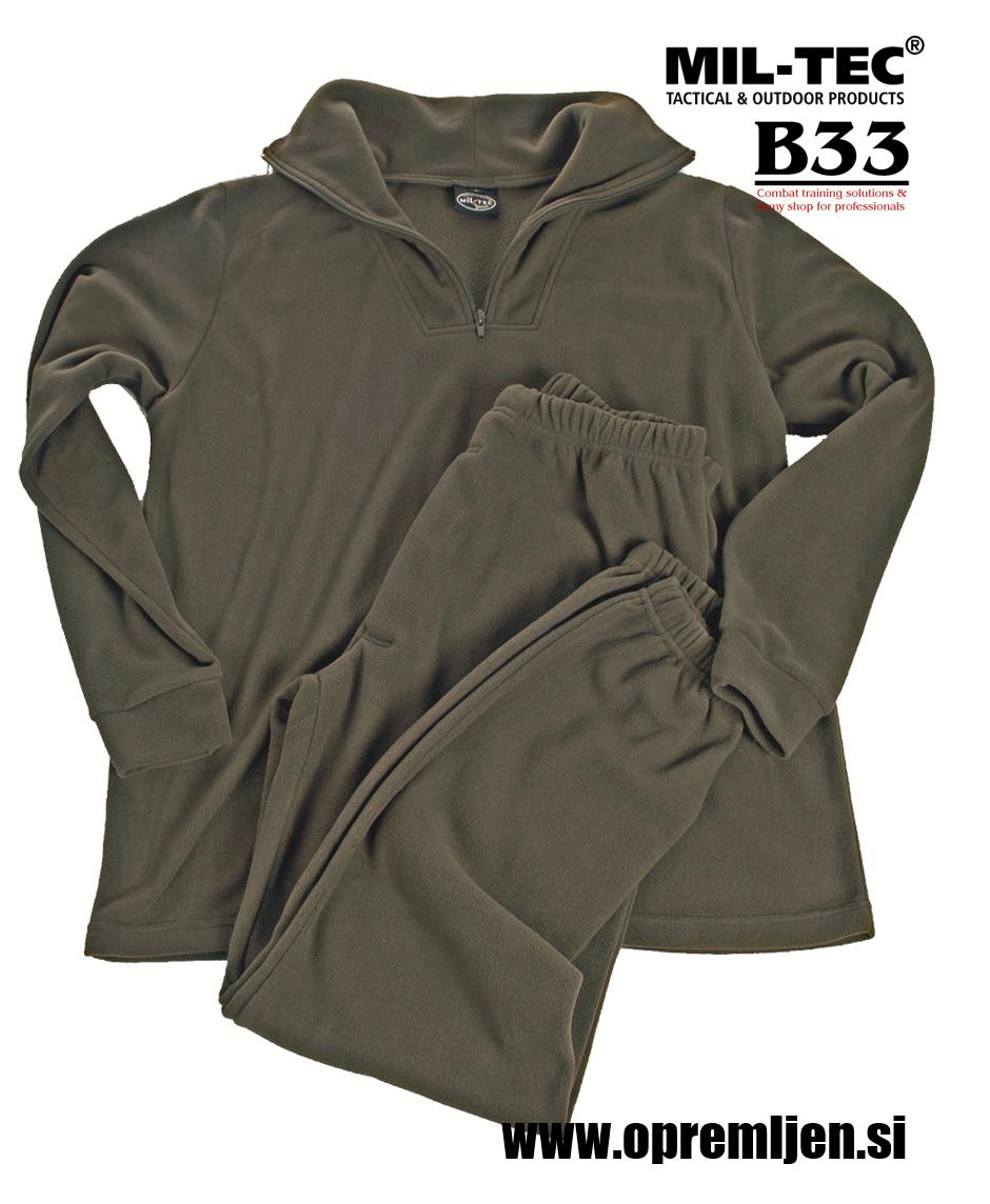 B33 army shop - Vojaška podobleka iz termoflisa z visokim ovratnikom z zadrgo olivna barva, MILTEC, MIL-TEC by B33 army shop at www.opremljen.si, trgovina z vojaško opremo, vojaška trgovina