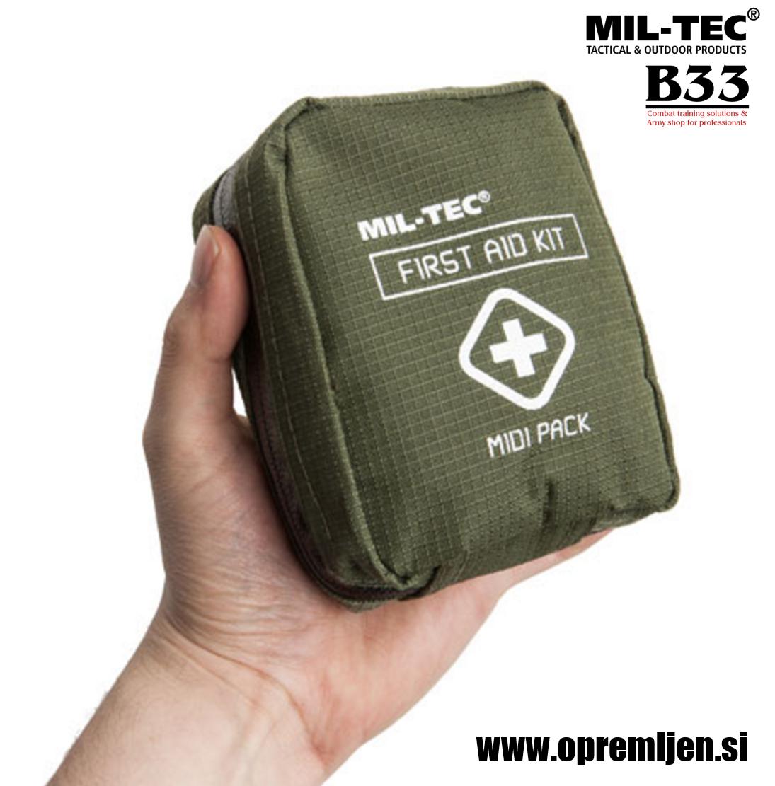 B33 army shop - prva pomoč paket MIDI at www.opremljen.si