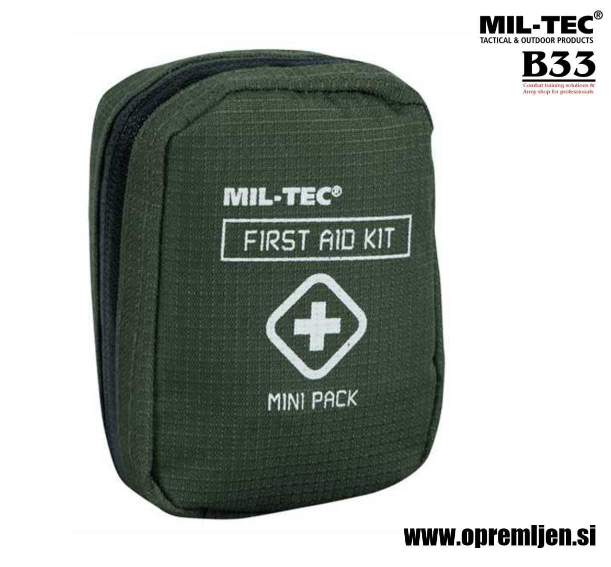 B33 army shop - prva pomoč paket MINI at www.opremljen.si