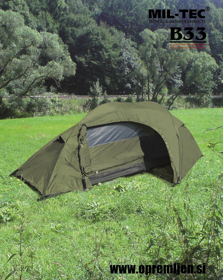 B33 army shop - vojaški šotor za eno osebo RECOM MILTEC by B33 army shop at www.opremljen.si, trgovina z vojaško opremo, vojaška trgovina
