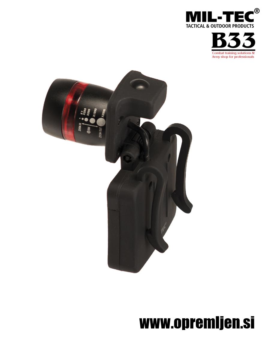 B33 army shop - vojaška naglavna svetilka z nastavljivim zoom snopom MILTEC, MIL-TEC opremite se na www.opremljen.si (trgovina z vojaško opremo, vojaška trgovina)