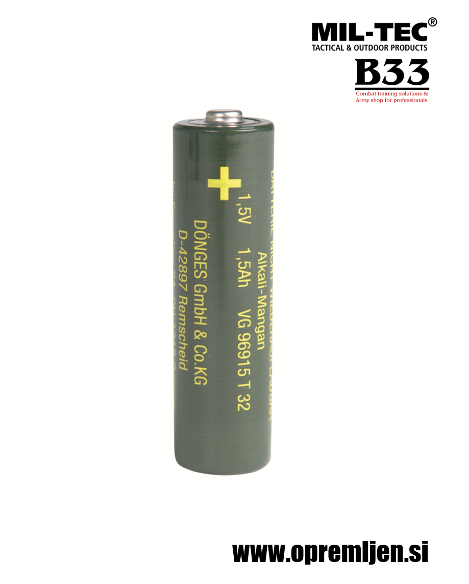 Nemška vojaška visokokvalitetna Mangan-alkalna baterija micro AAA 1,5V LR03 (v paketu so 4 baterije) MILTEC, MIL-TEC opremite se na www.opremljen.si (trgovina z vojaško opremo, vojaška trgovina)