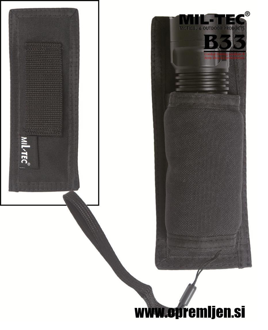 B33 army shop nosilec za ročno baterijsko svetilko črne barve MILTEC opremite se na www.opremljen.si trgovina z vojaško opremo, vojaška trgovina