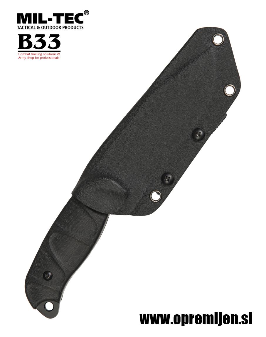 B33 army shop Robustni bojni nož z G10 ročajem ter nastavljivo smerjo toka za nošenje iz Kydex materiala  MILTEC, MIL-TEC opremite se na www.opremljen.si (trgovina z vojaško opremo, vojaška trgovina)