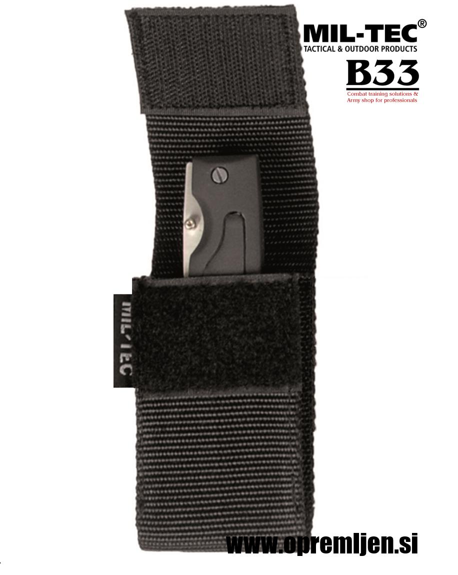 Etui za nož SECURITY 4'' (Višina 11 cm) črna barva MILTEC opremite se na www.opremljen.si trgovina z vojaško opremo, vojaška trgovina