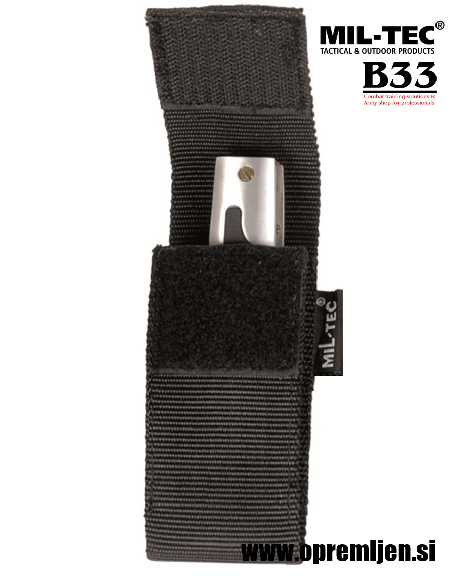 B33 army shop Etui za nož SECURITY 5'' (Višina 12 cm) črna barva MILTEC opremite se na www.opremljen.si vojaška trgovina, trgovina z vojaško opremo