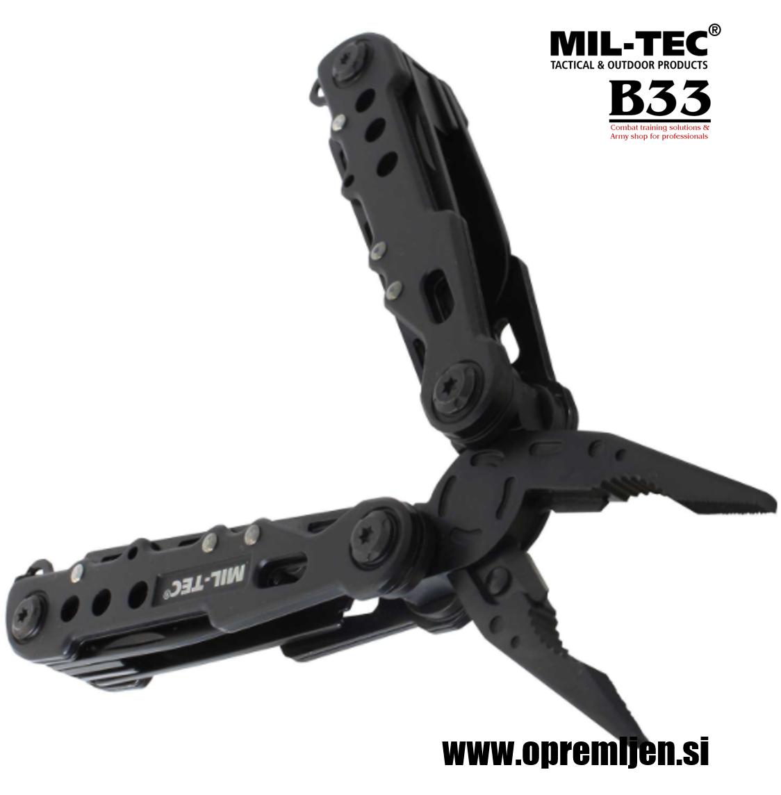 B33 army shop - Vojaško kompaktno multifunkcijsko orodje Black Cobra MILTEC, MIL-TEC opremite se na www.opremljen.si (trgovina z vojaško opremo, vojaška trgovina)