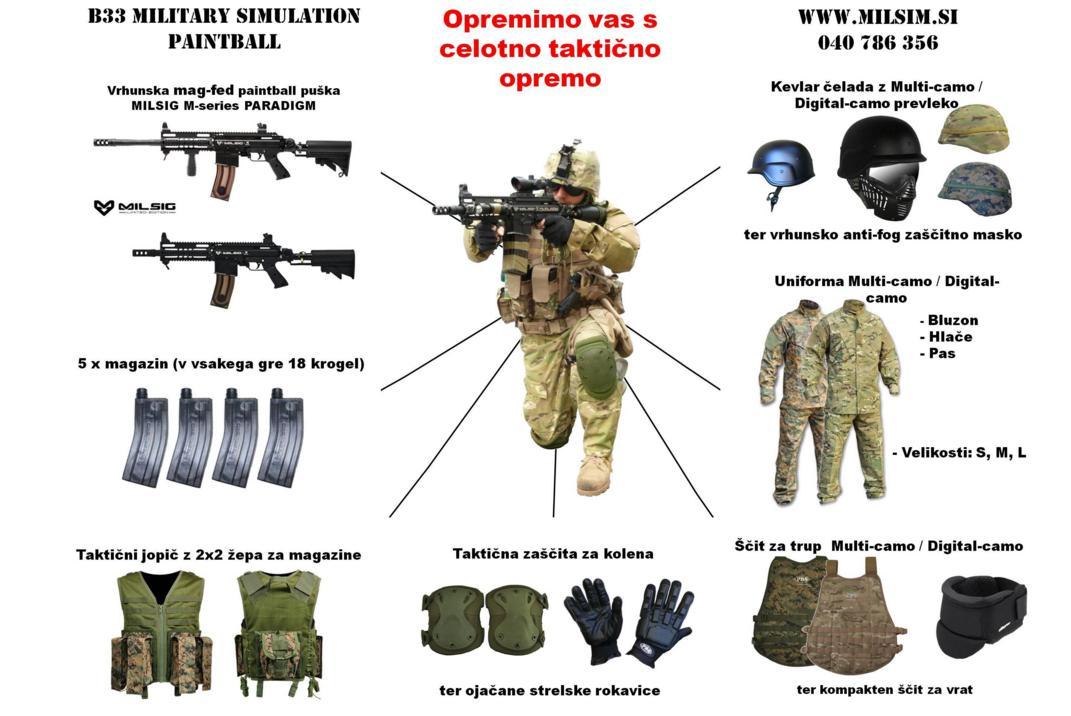 Mag-fed paintball military simulation oprema taktična oprema
